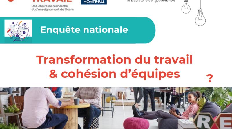 Enquête – «Transformation du travail et cohésion d'équipes : derrière les masques !»