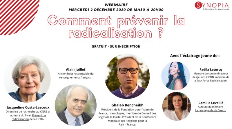 2 décembre 2020 – «Comment prévenir la radicalisation ?», sur ZOOM